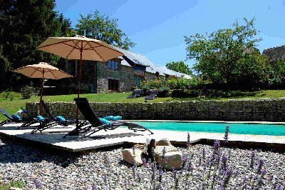 Swimming Pool at Correze Cycling Holidays France in Massif Central
